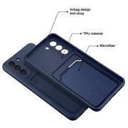 Silikon Handyhülle für Samsung Galaxy S21 Hülle mit Kartenfach Slim Wallet Case