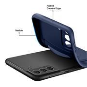 Silikon Handyhülle für Samsung Galaxy S21 Plus Hülle mit Kartenfach Slim Wallet Case