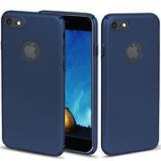Classic Schutzhülle für Apple iPhone 8 Plus Hülle Slim Dünn Hardcase mit samtig-weicher Beschichtung in Blau