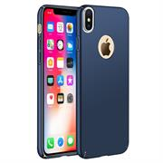 Ultra Slim Cover für Apple iPhone X Hülle in Blau + Panzerglas Schutz Folie