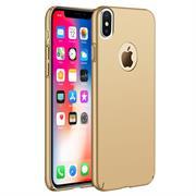 Ultra Slim Cover für Apple iPhone X Hülle in Gold + Panzerglas Schutz Folie
