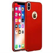 Ultra Slim Cover für Apple iPhone X Hülle in Rot + Panzerglas Schutz Folie