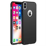 Ultra Slim Cover für Apple iPhone X Hülle in Schwarz + Panzerglas Schutz Folie