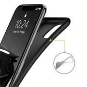 Silikon Hülle für Apple iPhone 11 Pro Max Schutzhülle Matt Schwarz Backcover Handy Case