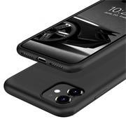 Silikon Hülle für Apple iPhone 11 Schutzhülle Matt Schwarz Backcover Handy Case