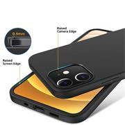 Silikon Hülle für Apple iPhone 12 Mini (5.4 Zoll) Schutzhülle Matt Schwarz Backcover Handy Case