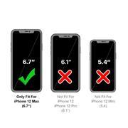 Silikon Hülle für Apple iPhone 12 Pro Max (6.7 Zoll) Schutzhülle Matt Schwarz Backcover Handy Case