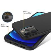 Silikon Hülle für Apple iPhone 12 / 12 Pro (6.1 Zoll) Schutzhülle Matt Schwarz Backcover Handy Case