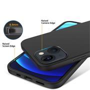 Silikon Hülle für Apple iPhone 13 Mini Schutzhülle Matt Schwarz Backcover Handy Case