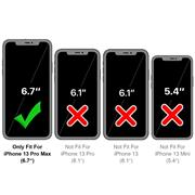 Silikon Hülle für Apple iPhone 13 Pro Max Schutzhülle Matt Schwarz Backcover Handy Case