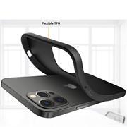 Silikon Hülle für Apple iPhone 13 Pro Schutzhülle Matt Schwarz Backcover Handy Case