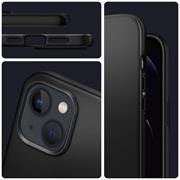 Silikon Hülle für Apple iPhone 13 Schutzhülle Matt Schwarz Backcover Handy Case