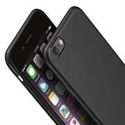 Silikon Hülle für Apple iPhone 6 Plus / 6S Plus Schutzhülle im schlichten Schwarz Slim Handy Case