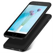 Silikon Hülle für Apple iPhone 6 Plus / 6s Plus Schutzhülle Matt Schwarz Backcover Handy Case