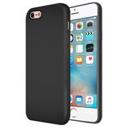 Silikon Hülle für Apple iPhone 6 / 6S Schutzhülle im schlichten Schwarz Slim Handy Case