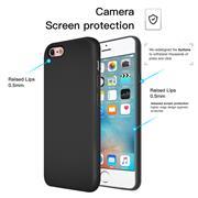 Silikon Hülle für Apple iPhone 6 / 6s Schutzhülle Matt Schwarz Backcover Handy Case