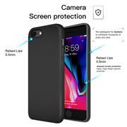 Silikon Hülle für Apple iPhone 7 Schutzhülle im schlichten Schwarz Slim Handy Case