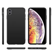 Silikon Hülle für Apple iPhone X Schutzhülle im schlichten Schwarz Slim Handy Case