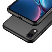 Silikon Hülle für Apple iPhone XR Schutzhülle im schlichten Schwarz Slim Handy Case