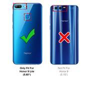 Silikon Hülle für Honor 9 Lite Matt Schwarz Backcover Handy Case
