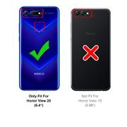 Silikon Hülle für Honor View 20 Matt Schwarz Backcover Handy Case