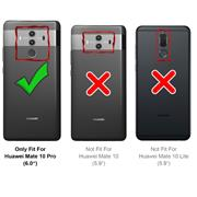 Silikon Hülle für Huawei Mate 10 Pro Schutzhülle Matt Schwarz Backcover Handy Case
