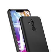 Silikon Hülle für Huawei Mate 20 Lite Matt Schwarz Backcover Handy Case