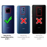 Silikon Hülle für Huawei Mate 20 Pro Schutzhülle Matt Schwarz Backcover Handy Case