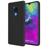 Silikon Hülle für Huawei Mate 20 Schutzhülle Matt Schwarz Backcover Handy Case