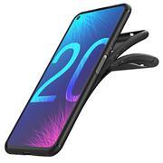Silikon Hülle für Huawei Nova 5T Schutzhülle Matt Schwarz Backcover Handy Case