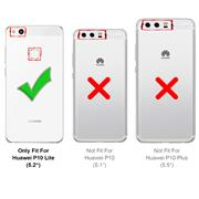 Silikon Hülle für Huawei P10 Lite Schutzhülle Matt Schwarz Backcover Handy Case