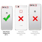 Silikon Hülle für Huawei P10 Schutzhülle Matt Schwarz Backcover Handy Case