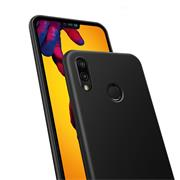 Silikon Hülle für Huawei P20 Lite Schutzhülle Matt Schwarz Backcover Handy Case