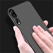 Silikon Hülle für Huawei P20 Pro Schutzhülle im schlichten Schwarz Slim Handy Case