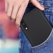 Silikon Hülle für Huawei P20 Schutzhülle im schlichten Schwarz Slim Handy Case