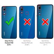 Silikon Hülle für Huawei P20 Schutzhülle Matt Schwarz Backcover Handy Case