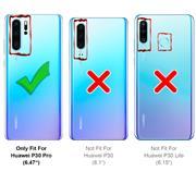 Silikon Hülle für Huawei P30 Pro Schutzhülle Matt Schwarz Backcover Handy Case