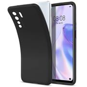 Silikon Hülle für Huawei P40 Lite 5G Schutzhülle Matt Schwarz Backcover Handy Case