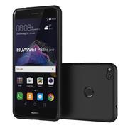 Silikon Hülle für Huawei P8 Lite 2017 Schutzhülle im schlichten Schwarz Slim Handy Case
