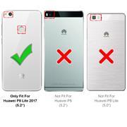 Silikon Hülle für Huawei P8 Lite 2017 Schutzhülle Matt Schwarz Backcover Handy Case