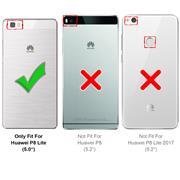 Silikon Hülle für Huawei P8 Lite Schutzhülle Matt Schwarz Backcover Handy Case