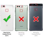 Silikon Hülle für Huawei P9 Lite Schutzhülle Matt Schwarz Backcover Handy Case