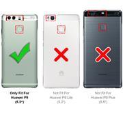 Silikon Hülle für Huawei P9 Schutzhülle Matt Schwarz Backcover Handy Case