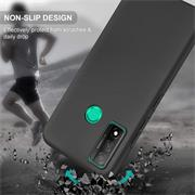 Silikon Hülle für Huawei P Smart 2020 Schutzhülle Matt Schwarz Backcover Handy Case