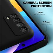 Silikon Hülle für Huawei P Smart 2021 Schutzhülle Matt Schwarz Backcover Handy Case