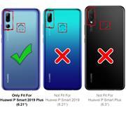 Silikon Hülle für Huawei P Smart+ 2019 Matt Schwarz Backcover Handy Case