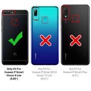 Silikon Hülle für Huawei P Smart Schutzhülle Matt Schwarz Backcover Handy Case