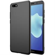 Silikon Hülle für Huawei Y5 2018 Schutzhülle im schlichten Schwarz Slim Handy Case