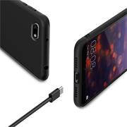 Silikon Hülle für Huawei Y5 2018 Schutzhülle Matt Schwarz Backcover Handy Case