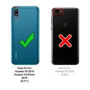 Silikon Hülle für Huawei Y5 2019 Schutzhülle Matt Schwarz Backcover Handy Case